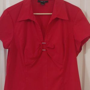 Style and Co. red women's top size 18